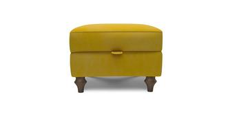 Cambridge Velvet Compact Storage Footstool