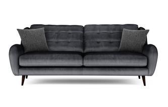Velvet 4 Seater Sofa Camden Velvet