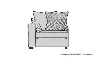 Pillow Back Left Hand Facing 1 Arm 1 Seat Unit