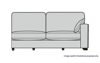 Formal Back Right Hand Facing 1 Arm 3 Seat Unit