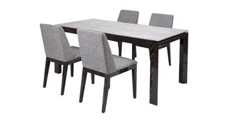 Capella Dining Table & Set of 4 Chairs
