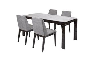 Dining Table & Set of 4 Chairs Capella