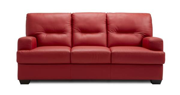 Cargo Leather and Leather Look 3 Seater Sofa