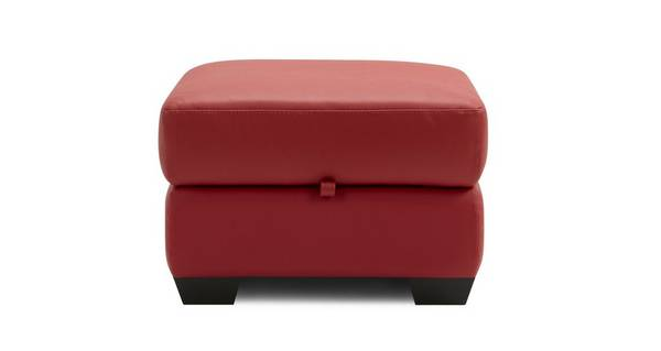Cargo Leather and Leather Look Storage Footstool
