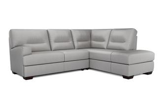 Cargo Leather and Leather Look Left Hand Facing Arm 2 Piece Corner Sofa Hazen