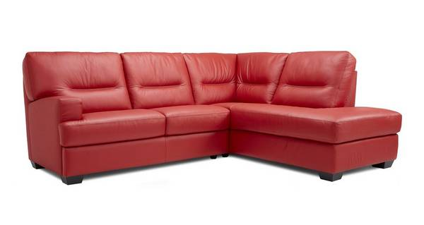 Cargo Leather and Leather Look Left Hand Facing Arm 2 Piece Corner Sofa