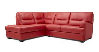 Cargo Leather and Leather Look Right Hand Facing Arm 2 Piece Corner Sofa