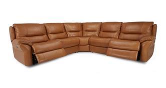 Carmello Option C 2 Corner 2 Power Double Recliner Sofa