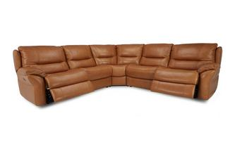 Option C 2 Corner 2 Electric Double Recliner Sofa