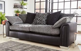 Carrara 4 Seater Pillow Back Sofa Carrara