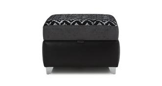 Carrara Pattern Top Storage Footstool