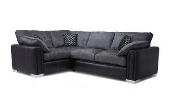 Right Hand Facing Formal Back 3 Seater Corner Sofa Carrara