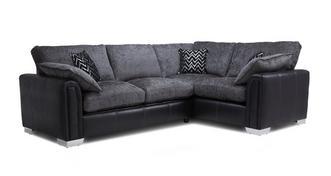 Carrara Left Hand Facing Formal Back 3 Seater Deluxe Corner Sofa Bed