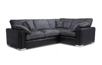 Left Hand Facing Formal Back 3 Seater Deluxe Corner Sofa Bed Carrara
