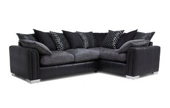 Left Hand Facing Pillow Back 3 Seater Deluxe Corner Sofa Bed Carrara