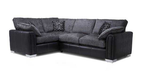 Carrara Right Hand Facing Formal Back 3 Seater Deluxe Corner Sofa Bed