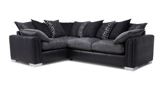 Carrara Right Hand Facing Pillow Back 3 Seater Deluxe Corner Sofa Bed