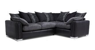 Carrara Left Hand Facing 3 Seater Pillow Back Supreme Corner Sofa Bed