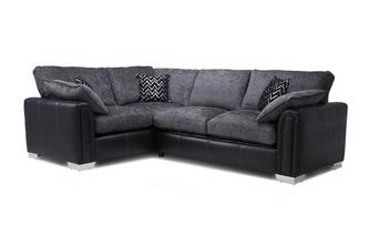 Right Hand Facing Formal Back 3 Seater Supreme Corner Sofa Bed Carrara