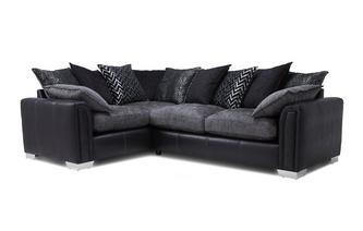 Right Hand Facing Pillow Back 3 Seater Supreme Corner Sofa Bed Carrara