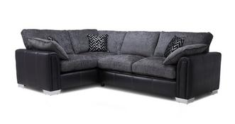 Carrara Express Right Hand Facing Formal Back 3 Seater Deluxe Corner Sofa Bed