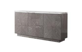 Groot dressoir Carrera Marble & Wood