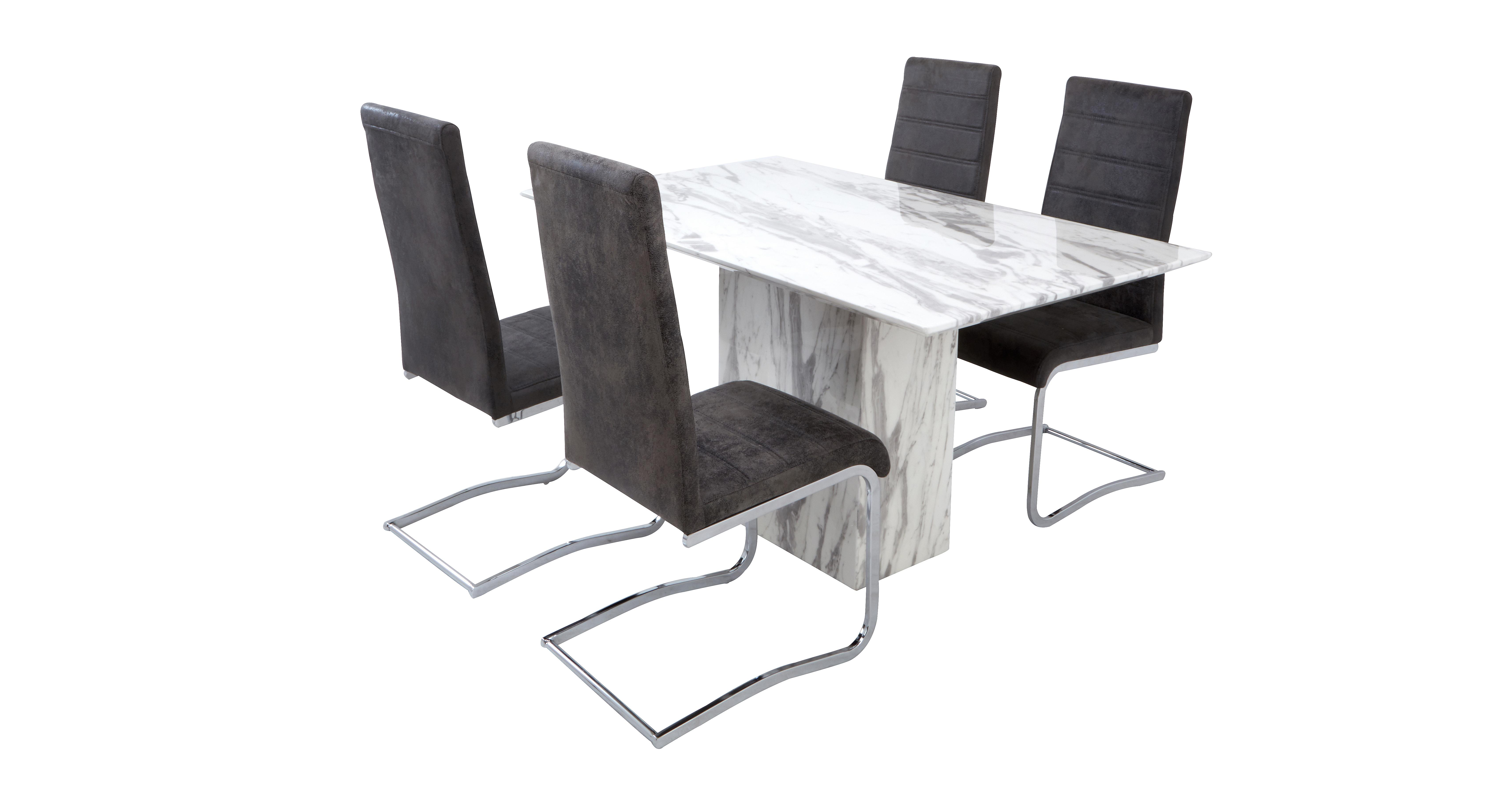 Carrera Fixed Dining Table Amp Set Of 4 Pisa Chairs Dfs