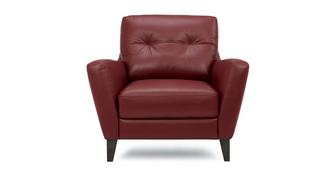 Carter Leather and Leather Look Armchair