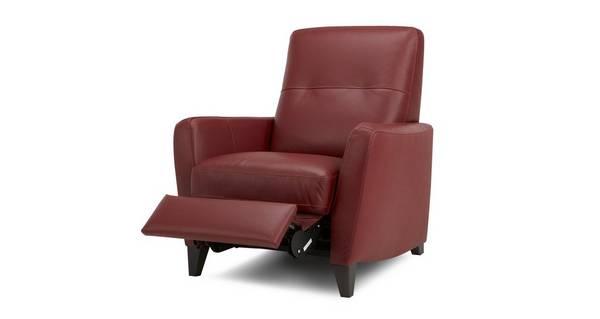 Carter Leder met lederlook  Handbediende recliner stoel
