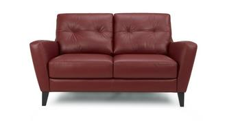 Carter Leather and Leather Look 2 Seater Sofa