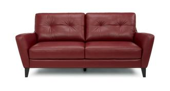 Carter Leather and Leather Look 3 Seater Sofa