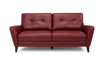 Leather and Leather Look 3 Seater Sofa Hazen