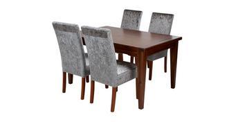 Cascade Rechthoekige uitschuiftafel & set van 4 stoelen