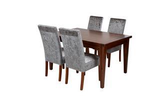 Rectangular Extending Table & Set of 4 Chairs Cascade