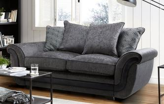 Cassius 2 Seater Pillow Back Deluxe Sofa Bed Cassius