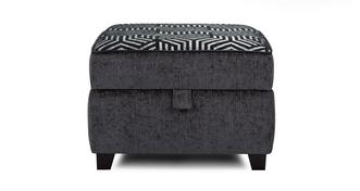 Cassius Pattern Top Storage Footstool