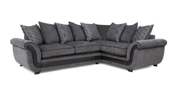 Cassius Left Hand Facing 3 Seater Pillow Back Corner Sofa