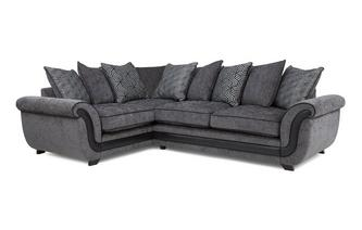 Right Hand Facing 3 Seater Pillow Back Corner Sofa Cassius