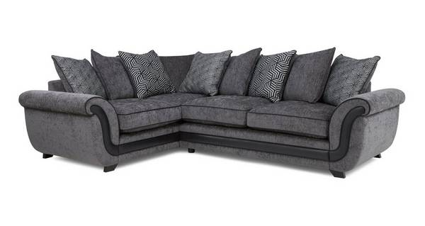 Cassius Right Hand Facing 3 Seater Pillow Back Corner Sofa