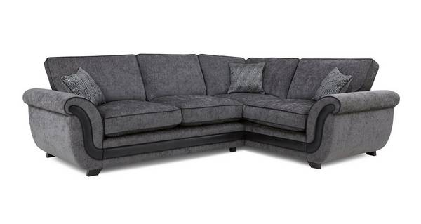 Cassius Left Hand Facing Formal Back Deluxe Corner Sofa Bed