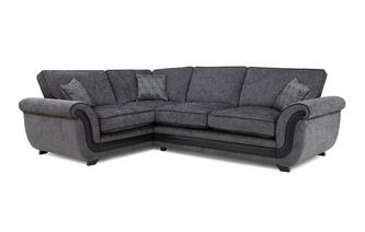 Right Hand Facing Formal Back Deluxe Corner Sofa Bed Cassius