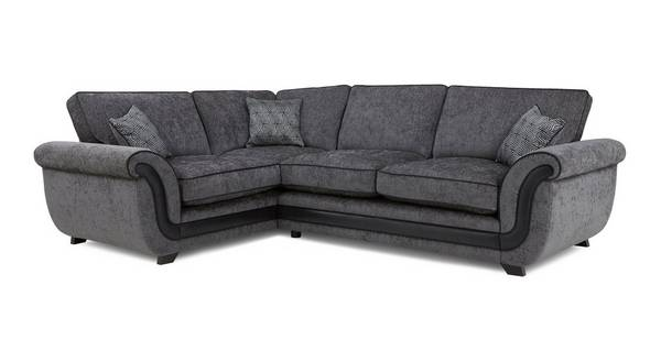 Cassius Right Hand Facing Formal Back Deluxe Corner Sofa Bed