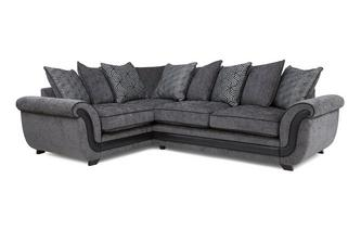 Right Hand Facing Pillow Back Deluxe Corner Sofa Bed Cassius