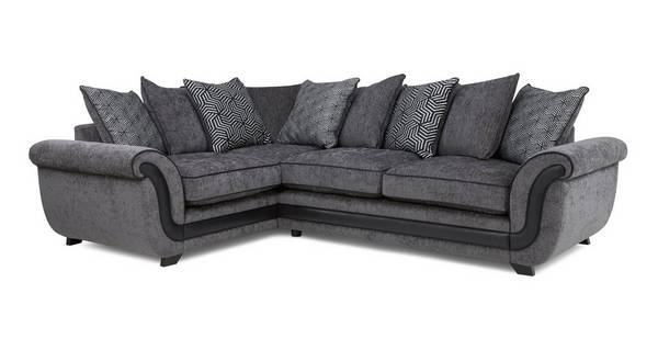 Cassius Right Hand Facing Pillow Back Deluxe Corner Sofa Bed