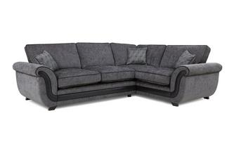 Left Hand Facing Formal Back Supreme Corner Sofa Bed Cassius