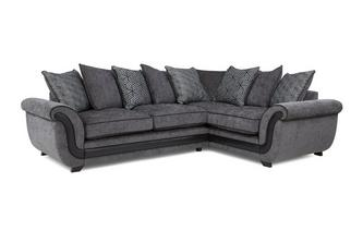 Left Hand Facing Pillow Back Supreme Corner Sofa Bed Cassius