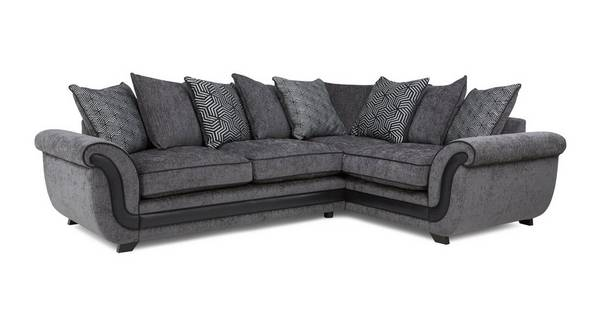 Cassius Left Hand Facing Pillow Back Supreme Corner Sofa Bed