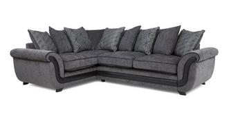 Cassius Right Hand Facing Pillow Back Supreme Corner Sofa Bed
