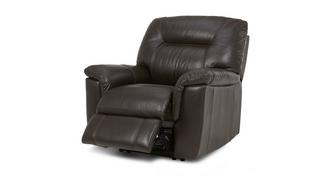 Cato Leather and Leather Look Manual Recliner Chair