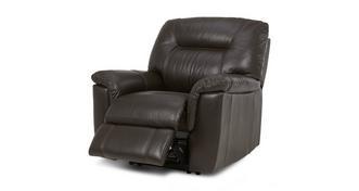 Cato Leder en lederlook Handbediende recliner stoel